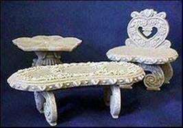 Cherished Teddies Ornamental Garden Furniture Set 202967 - $21.77