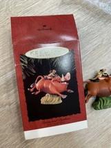Lion King Keepsake Christmas Ornament Timon Pumbaa Hallmark Disney - $9.89
