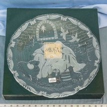 "Mikasa Crystal Christmas Rejoice Nativity Plaque 9"" With Stand In Box dq - $24.74"