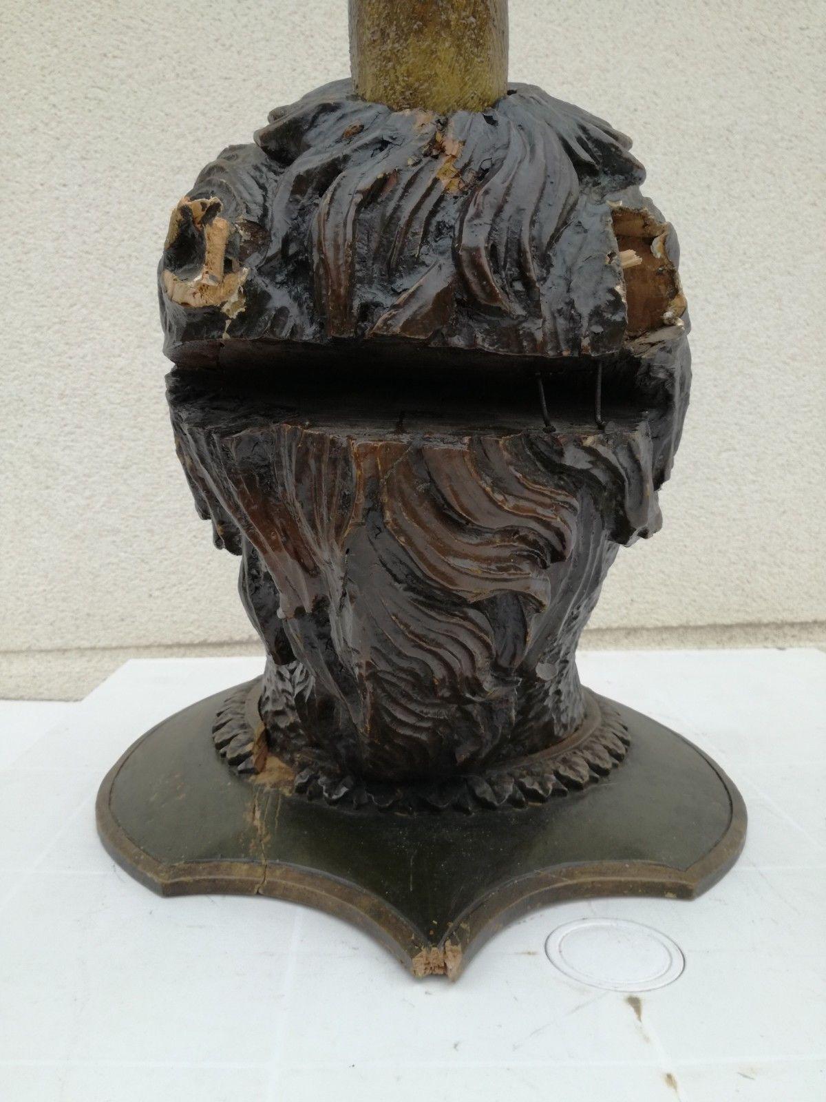 Imposante Unicorn wood sculpture carved Antique 1900 German Black Forest RARE !