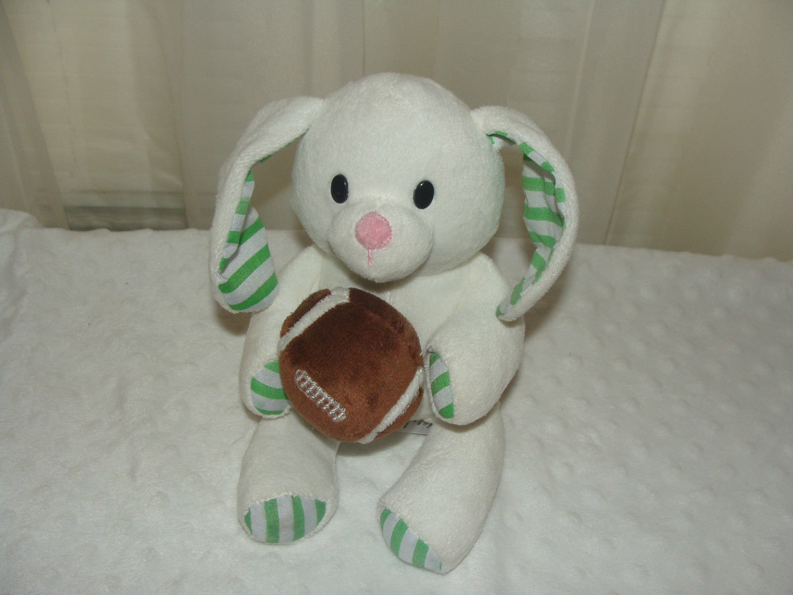 Primary image for 2014 Animal Adventure Soft Football Bunny Rabbit Plush Lovey L@@K