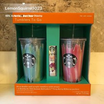 NEW Starbucks Tumblers to Go 20oz. Acrylic Cold Cup 2 Pack Gift Set Choose Color - $29.69+