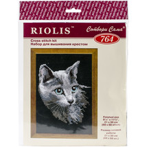 "RIOLIS Cted Cross Stitch Kit 8.25""X11.75""-Russian Blue(10 Ct) - $14.67"