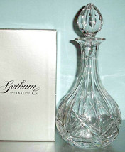 Gorham Crystal Lady Anne Wine Decanter & Stopper 38 oz Czech Republic Ne... - $79.90