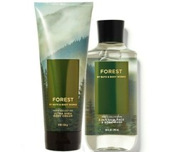 Bath & Body Works Forest Body Cream + 3-in-1 Hair, Face & Body Wash Duo Set - $34.95
