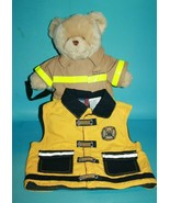 "Build A Bear Fireman Plush Stuffed Animal 15"" Fire Rescue 18 Months Kid ... - $19.34"