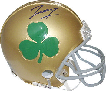 Tyler Eifert signed Notre Dame Fighting Irish Green Shamrock Logo Mini Helmet