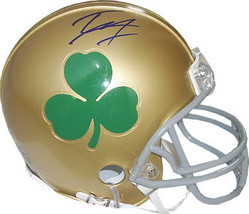 Tyler Eifert signed Notre Dame Fighting Irish Green Shamrock Logo Mini H... - $58.95