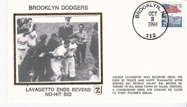 BROOKLYN DODGERS LAVAGETTO ENDS BEVENS NO-HIT BID BROOKLYN NY OCT. 3 199... - $2.98