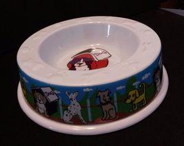 "DOG BOWL Plastic 6.5"" Puppies NEW - $5.49"