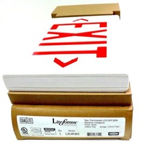NIB HUBBELL LXURWE THERMOPLASTIC LED EXIT SIGN 120/277VAC - $85.00