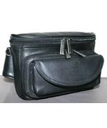 ❤️BROOKSTONE Black Fine Leather Fanny Pack Waist Bag Travel Organizer NE... - $42.74