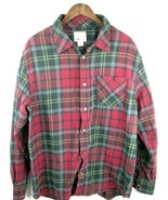 Used Field & Stream Red Plaid Flannel Mens Long Sleeve Shirt Button Down XL - $34.65