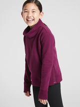 ATHLETA GIRL Inner Strength Funnel Neck Sweatshirt Beach Plum EXTRA LARG... - $28.91