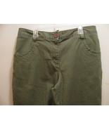 KIM ROGERS CAPRI PANTS-SZ 10 GREEN-FRONT & BACK POCKETS-FRONT ZIPPER-BEL... - $9.99