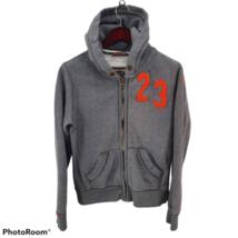 Super Dry Japan #23 Fleece Hoodie Full Zip Gray Mens Large - $59.39