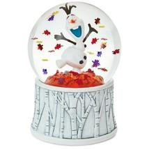 Hallmark Disney Frozen 2 OLAF Autumn Leaves in Motion Birch Tree Snow Globe - $69.95
