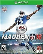 XBOX ONE MADDEN 16 NFL FOOTBALL  VIDEO GAME BRAND NEW FACTORY SEALED - $14.99
