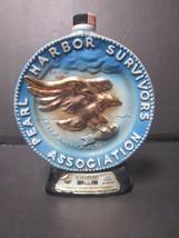 Vintage 1976 Regal China Jim Beam Whiskey Bottle Pearl Harbor Survivors Empty - $9.99