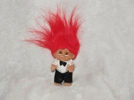 "1986 Dam Norfin Troll Wedding Groom Man Red Hair Tuxedo 3"" - $10.88"