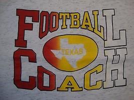 Vintage Texas Football Coach Sportswear Fan Gray Cotton T Shirt Size 2XL - $15.53