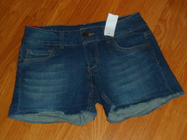 CELEBRITY PINK JEAN SHORTS SIZE 1 - 5 JUNIOR DISTRESSED BLUE NWT - $16.98