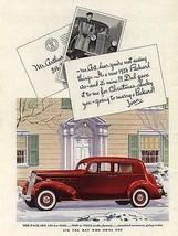 1936 PACKARD 120 Red White Walls Chrome Grill Auto AD - $12.99