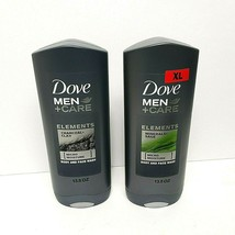 NEW 2xDove Men Care Elements Face Body Wash Charcoal Clay Minerals Sage ... - $19.23