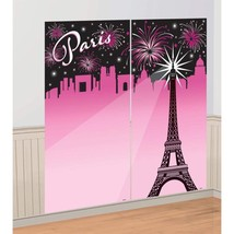 Day In Paris Birthday Selfie Scene Setter Party Wall Decoration Kit 2 Ct... - ₨655.27 INR