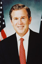 President George W. Bush Jr Color 24x18 Poster by Flag - $23.99