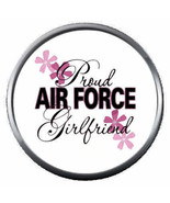 USAF Proud Air Force Girlfriend Support Military Troops 18MM - 20MM Snap... - $5.95