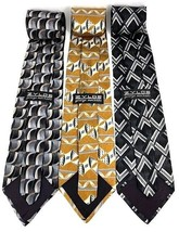 "NEW Three (3) ZYLOS George Machado Italian Silk Men's Neck Ties 3.75"" x 56"" - $21.95"