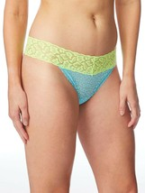No Boundaries Women's All Lace Thong Panties Size 2XL (9) Blue & Green New - $10.89