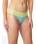 No Boundaries Women's All Lace Thong Panties Size 2XL (9) Blue & Green New - $10.89