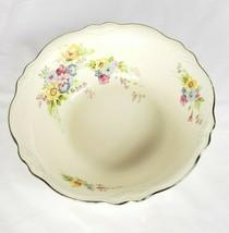 """Homer Laughlin Virginia Rose Serving Bowl 8.5"""" Cream Floral Vintage - $19.79"""