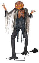 Animated LifeSize 7 ft SCORCHED HALLOWEEN SCARECROW With FOG Machine SEE... - €223,04 EUR