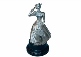 Avon Award Figurine Albee Metal sculpture award decor gift vtg statue purse hat - $49.45