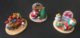 Santa's Workshop Delivery And Rest At Home Ornaments Holiday Christmas S... - $19.79