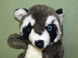 "Vintage Plush RACCOON Blue Eyes 16"" Brown Black White Stuffed Animal Toy Lovie - $18.70"