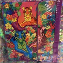 EUC RARE VINTAGE Lisa Frank 3 Ring Trapper Keeper Binder Rainbow Tiger Trio 90s image 3