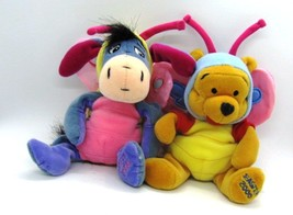 Disney POOH & EEYORE Easter 2000 Butterfly Edition Beanbag Plush Holiday... - $15.83