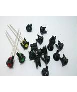 50x schwarze Ledfassungen für 5mm Leds, Led Fassung Montageringe Kunstst... - $5.63