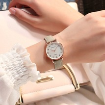 Simple Vintage Women Small Dial Sweet Watch Leather Wrist Strap Watches Gift - $6.00
