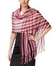 Collection Xiix Multi Stripe Metallic Net Wrap in Gala Pink - $20.69