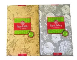 Vinyl Tablecloth Christmas Thanksgiving Silver or Gold You Choose Size H... - $19.49+