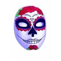 Underwraps Día de los Muertos Calavera Rosas Mask Adulto Disfraz Hallowe... - $11.57
