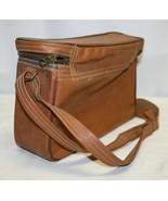 Vintage Leather-Like Camera Bag - Camel Brown - $24.75