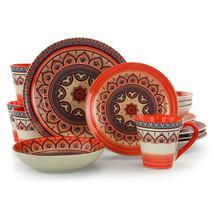 Elama Zen Rust Mozaik 16 Piece Dinnerware Set - $80.18