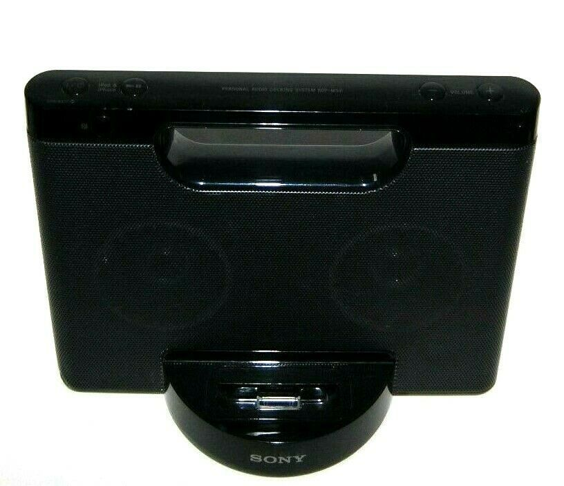 Primary image for Sony RDP-M5IP 30-Pin iPhone/iPod Portable Speaker Dock AUX Stereo Black