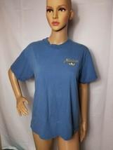 Vintage Mickey Mouse Blue Tee Shirt Womens Medium Made In USA Disney Catalog - $18.61